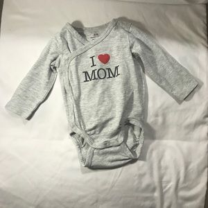 I ❤️ Mom Long Sleeve Onsie Organic Cotton
